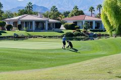 Gary gracza pole golfowe, Rancho miraż obrazy stock
