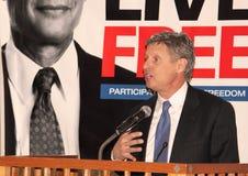 Gary Johnson - candidato presidenziale Immagini Stock Libere da Diritti