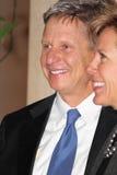 Gary Johnson con il fidanzato Kate Prusack Fotografia Stock Libera da Diritti