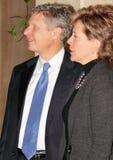 Gary Johnson con il fidanzato Kate Prusack Immagine Stock Libera da Diritti