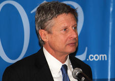 Gary Johnson - Presidential Candidate. Gary Johnson, former two term governor of New Mexico, announced that he will be seeking the 2012 Libertarian Party Royalty Free Stock Photography