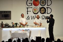 Gary Mehigan & George Calombaris Stock Photo