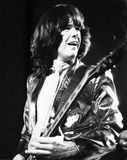 Gary Moore. Guitarist with Irish rock band Thin Lizzy, performing live in London on July 29, 1978 Royalty Free Stock Photo