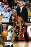 Gary Payton Has The Ball Imagenes de archivo