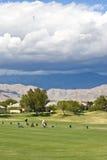 Gary-Spieler-Golfplatz, Palm Spring Lizenzfreie Stockfotos