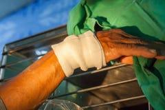 Garza della fasciatura di compressione Fotografie Stock Libere da Diritti