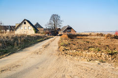 GARZWEILER, GERMANY - AUGUST 15 2015: A few of the many houses which will be destroyed very soon by the open cast mine Garzweiler Stock Photo