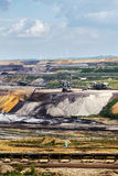 Garzweiler opencast mining lignite, Germany. Garzweiler opencast mining lignite, North Rhine-Westphalia, Germany, controversial energy production arouses protest royalty free stock photo