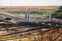 Garzweiler opencast mining lignite, North Rhine-Westphalia, Germ. Any, controversial energy production, the large surface mine arouses strong protest among stock photography