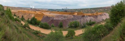 Garzweiler surface mining germany high definition panorama. The garzweiler surface mining germany high definition panorama royalty free stock photos