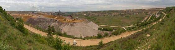 Garzweiler surface mining germany high definition panorama. The garzweiler surface mining germany high definition panorama stock image