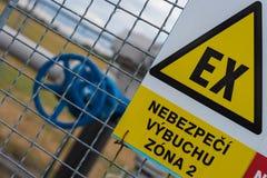 Gasöverföringssystem royaltyfria bilder
