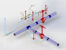 Gas 2 des Kranes 3D vektor abbildung