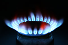 Gas. This is gas from an oven / blue flame Royalty Free Stock Image
