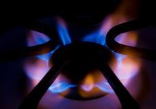 Gas aan Vlam Royalty-vrije Stock Foto's