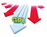 Gas arrows Stock Image