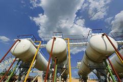 Gas-Aufbereiten der Fabrik in Prilukah Ukraine Lizenzfreies Stockfoto