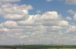 Gas-Aufbereiten einer Fabrik. Stockbilder