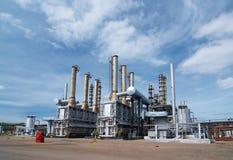 Gas-Aufbereiten von Industrie lizenzfreie stockbilder