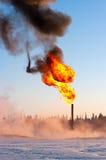 GAS-AUFFLACKERN Stockfotografie