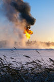 GAS-AUFFLACKERN Stockfoto