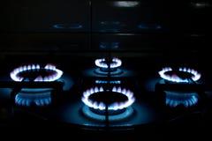 Gas azul Imagen de archivo libre de regalías
