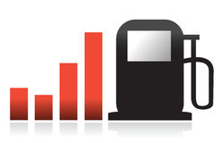 Gas bar illustration graph design Royalty Free Stock Photo