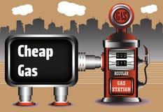 Gas barato stock de ilustración