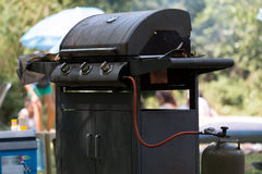 Gas barbecue grill Royalty Free Stock Photography