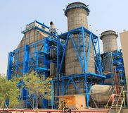 Gas based Thermal Power Plant Royalty Free Stock Images