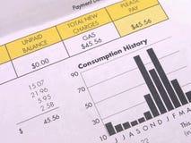 Gas Bill natural Imagen de archivo libre de regalías