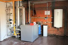 Gas boiler Stock Photo