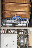 Gas boiler without front cover Stock Image