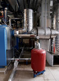 Gas boiler house stock photo