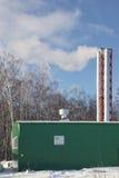 Gas Boiler House XXXL Stock Image