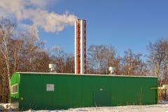 Gas Boiler House XXXL Stock Images