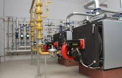 Gas boiler-huis Stock Foto's