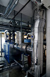 Gas boiler room royalty free stock photography