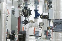 Gas boiler room equipment Stock Images