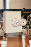Gas boiler under repair Stock Photo