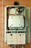 Gas boiler under repair Royalty Free Stock Image