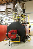 Gas boilers. In gas boiler room for steam production stock image