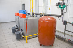 Gas boilers Royalty Free Stock Images