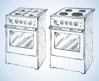 Gas and boiling tables. Vector drawing Royalty Free Stock Photography