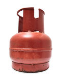 Gas bottle. Rusty gas cylinder, isolated, object Stock Photography