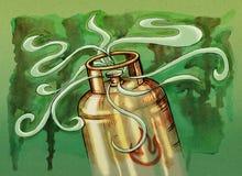 Gas bottle illustration Stock Photos