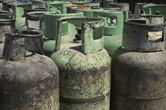 Gas bottles Stock Photography