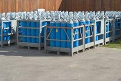 Gas Bottles Stock Photo