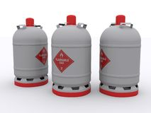 Gas bottles Stock Images