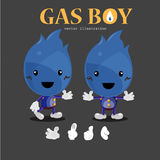 Gas boy character -. Illustration Royalty Free Stock Photos